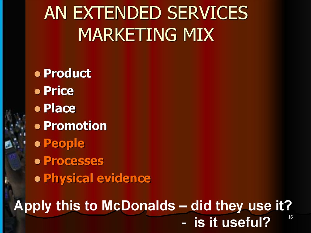Services marketing  The 7 P's of Services Marketing