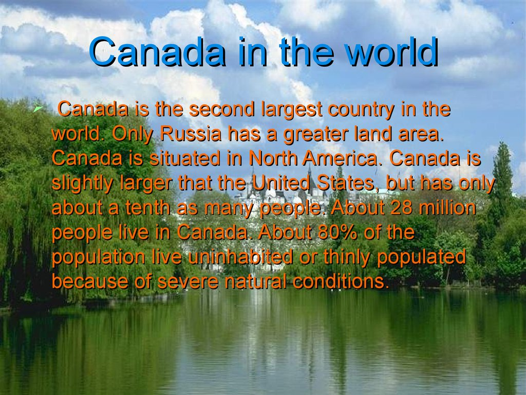Canada in the world