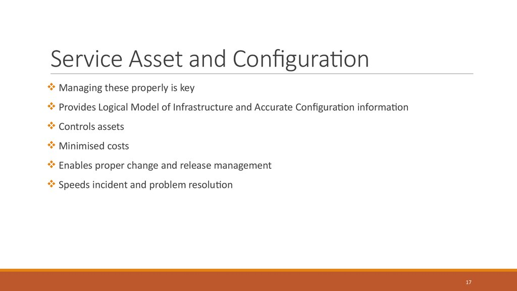 Service Asset and Configuration