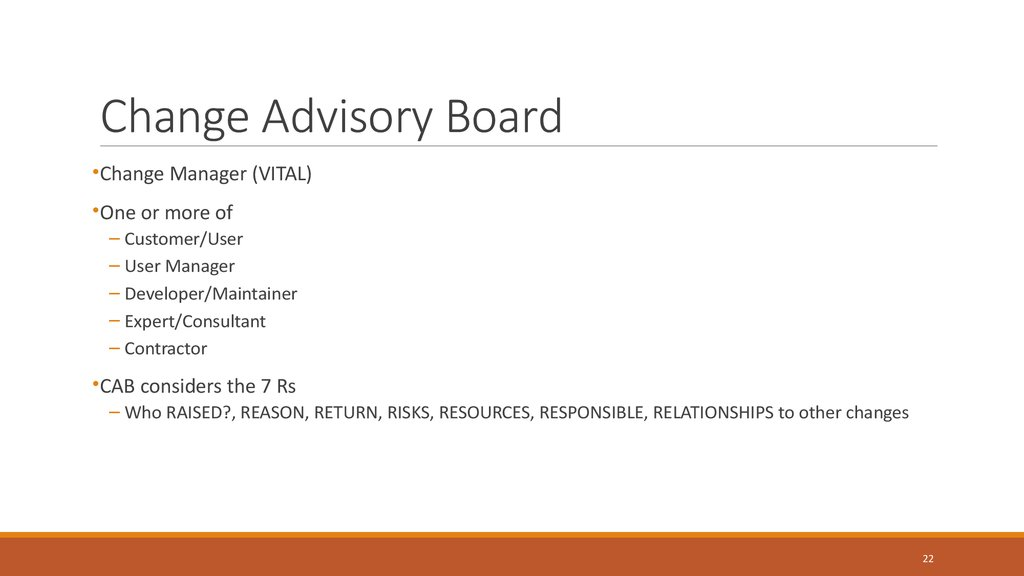 Change Advisory Board