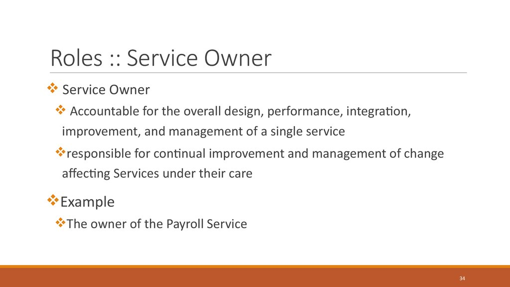 Roles :: Service Owner