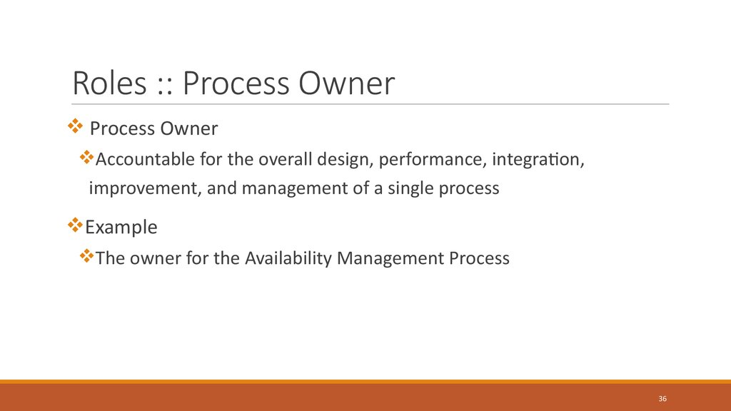 Roles :: Process Owner