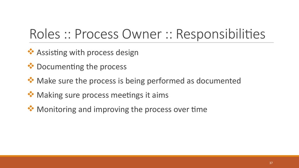Roles :: Process Owner :: Responsibilities