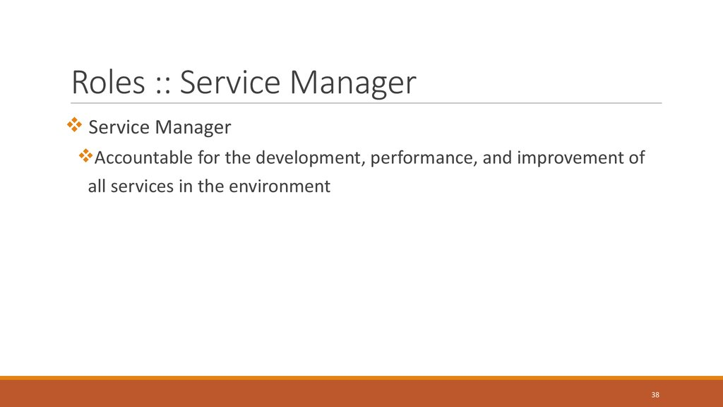 Roles :: Service Manager