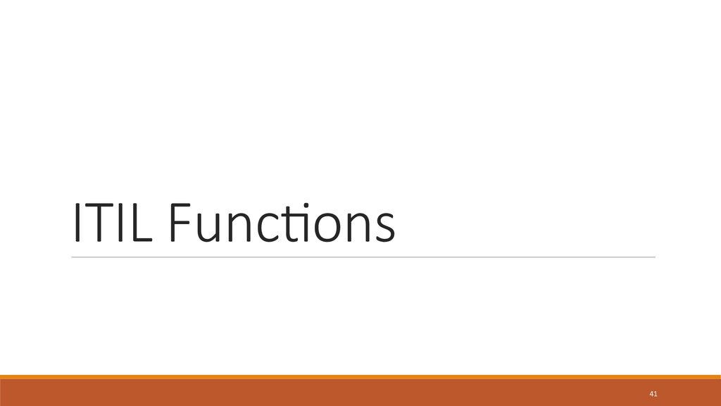 ITIL Functions