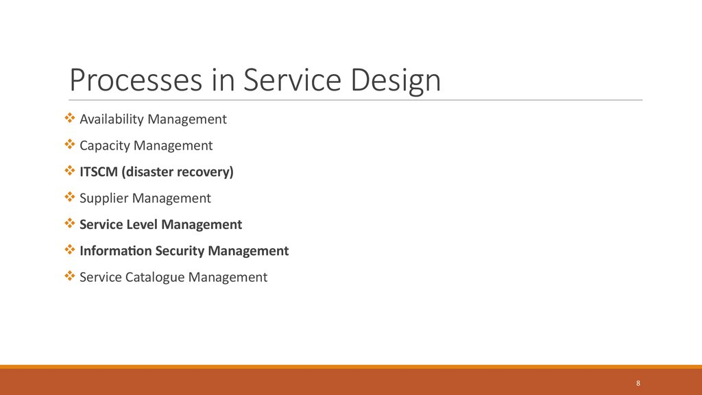 Processes in Service Design