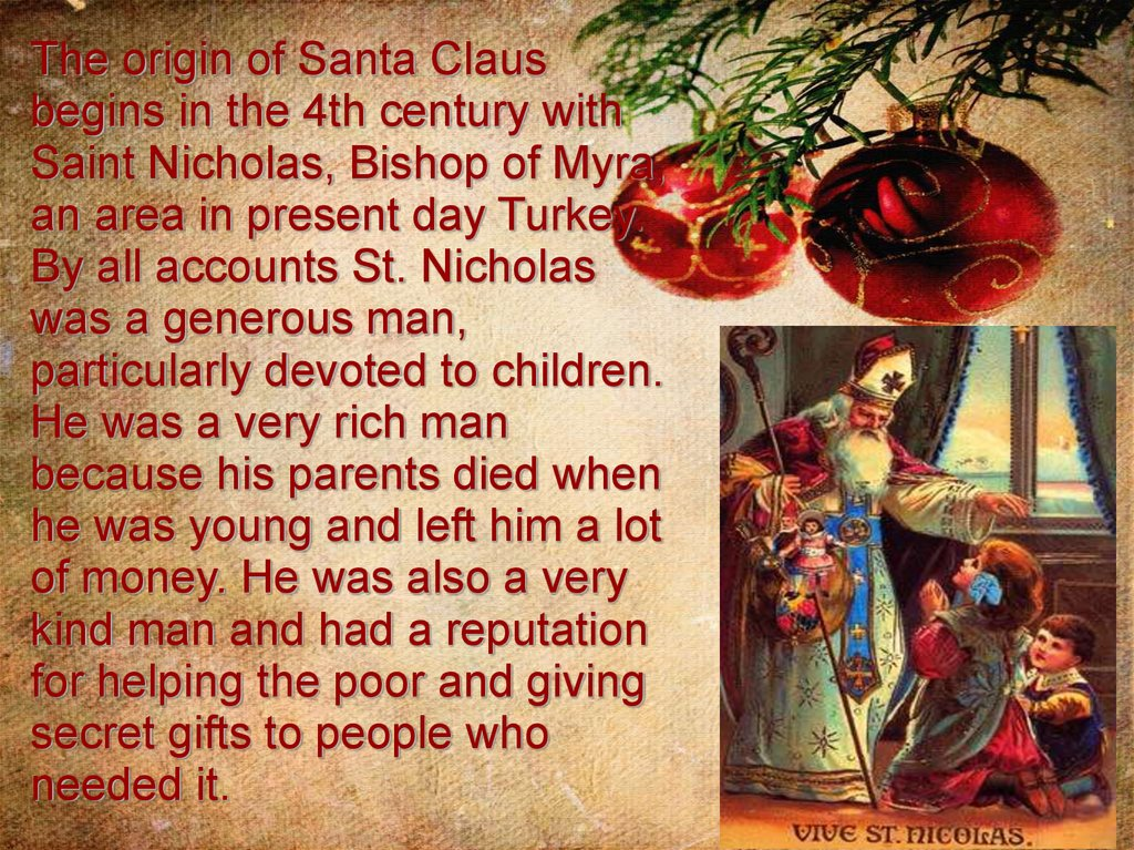 Origin Of Christmas.Christmas History And Traditions Online Presentation