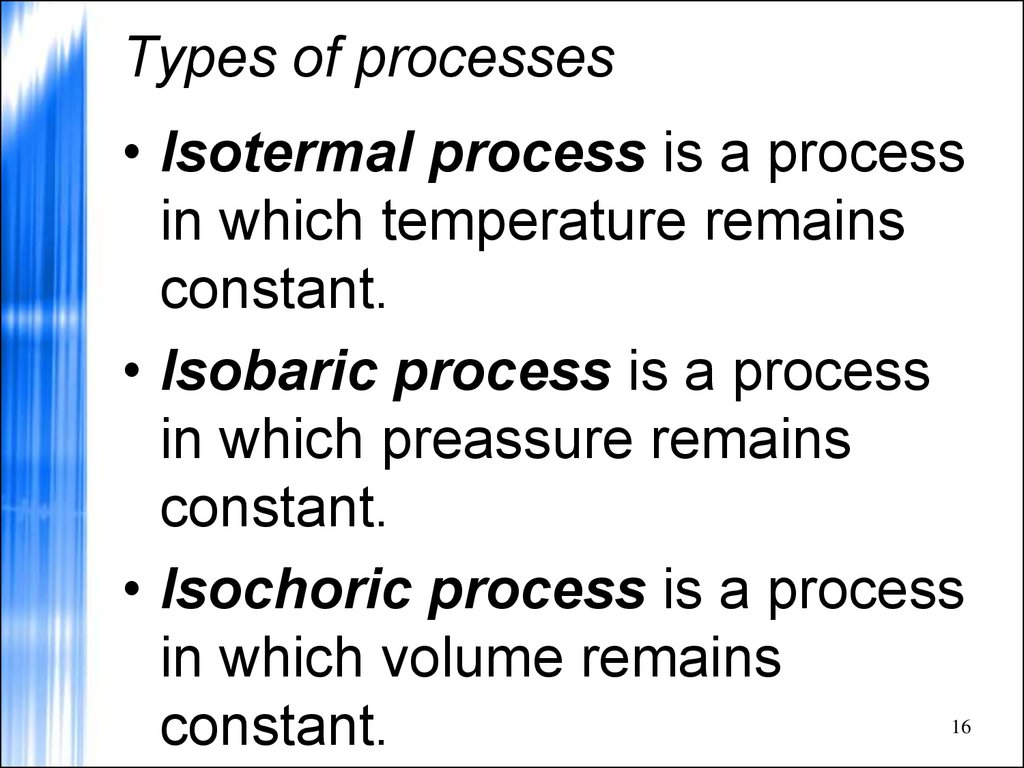 Types of processes