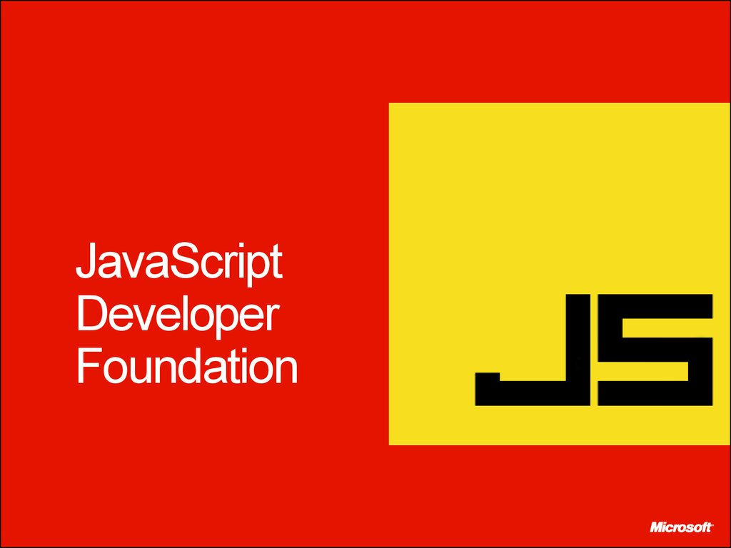 JavaScript Developer Foundation