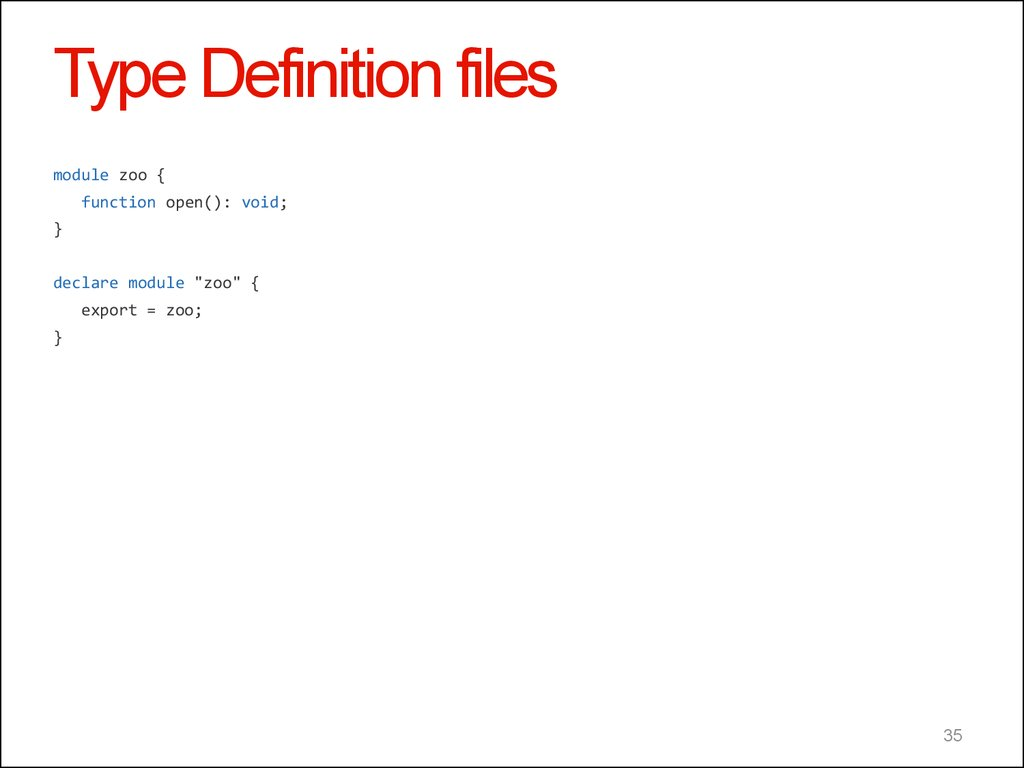 Type Definition files