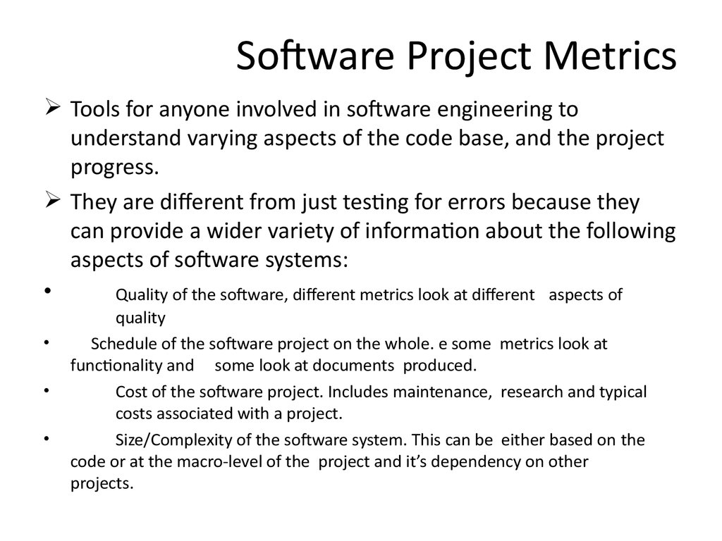 Software Project Metrics