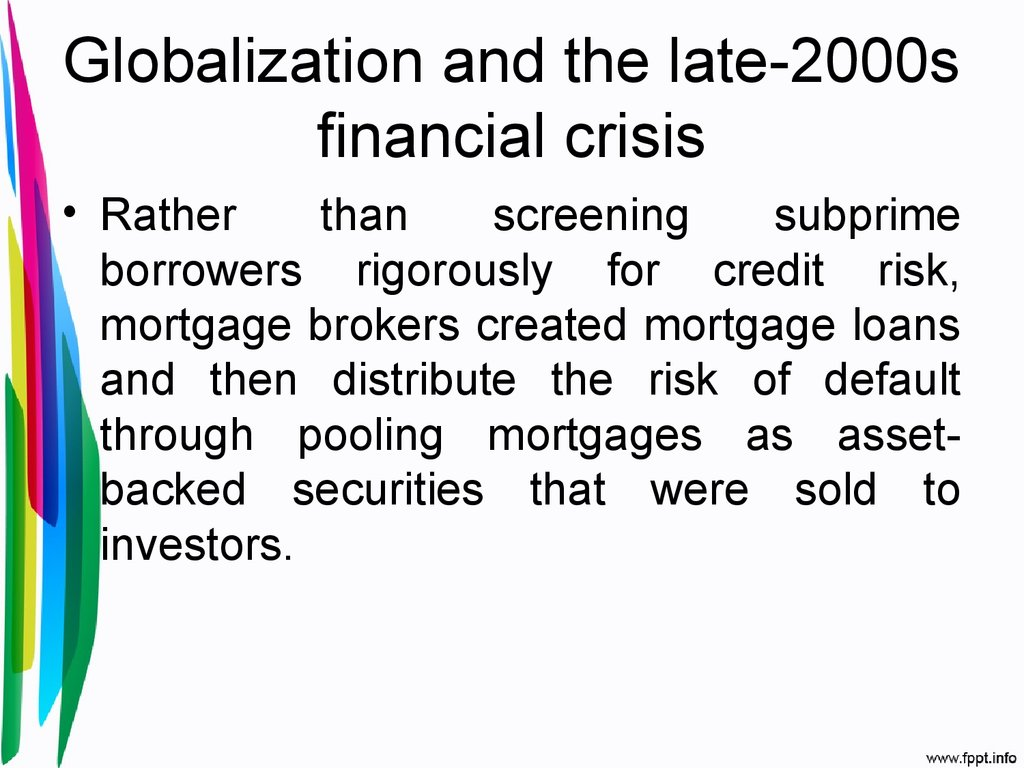 comparison of asian financial crisis and subprime crisis Market interdependence before, during, and after the 2007 after the asian financial crisis of and after the 2007 us subprime financial crisis should be.