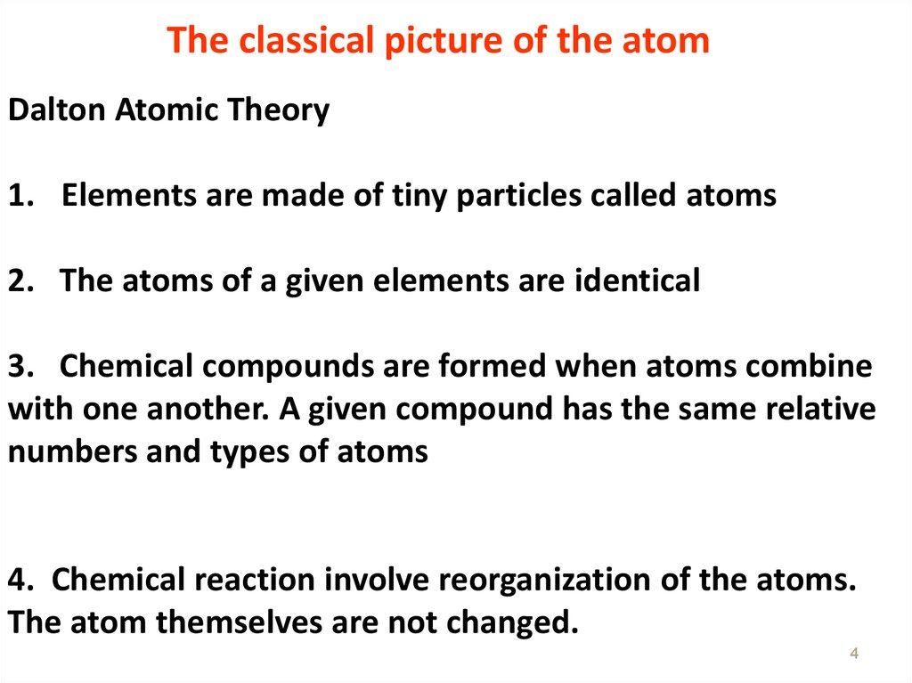 The classical picture of the atom