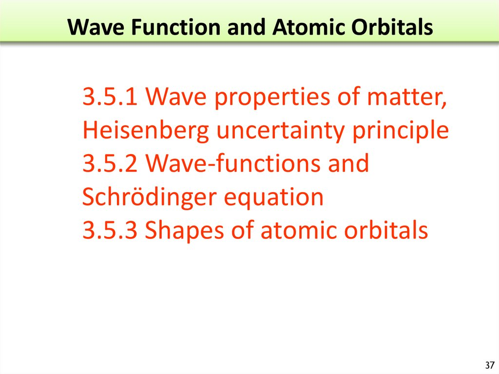 Wave Function and Atomic Orbitals