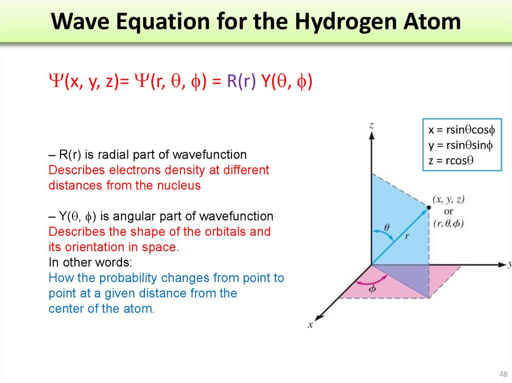 Wave Equation for the Hydrogen Atom