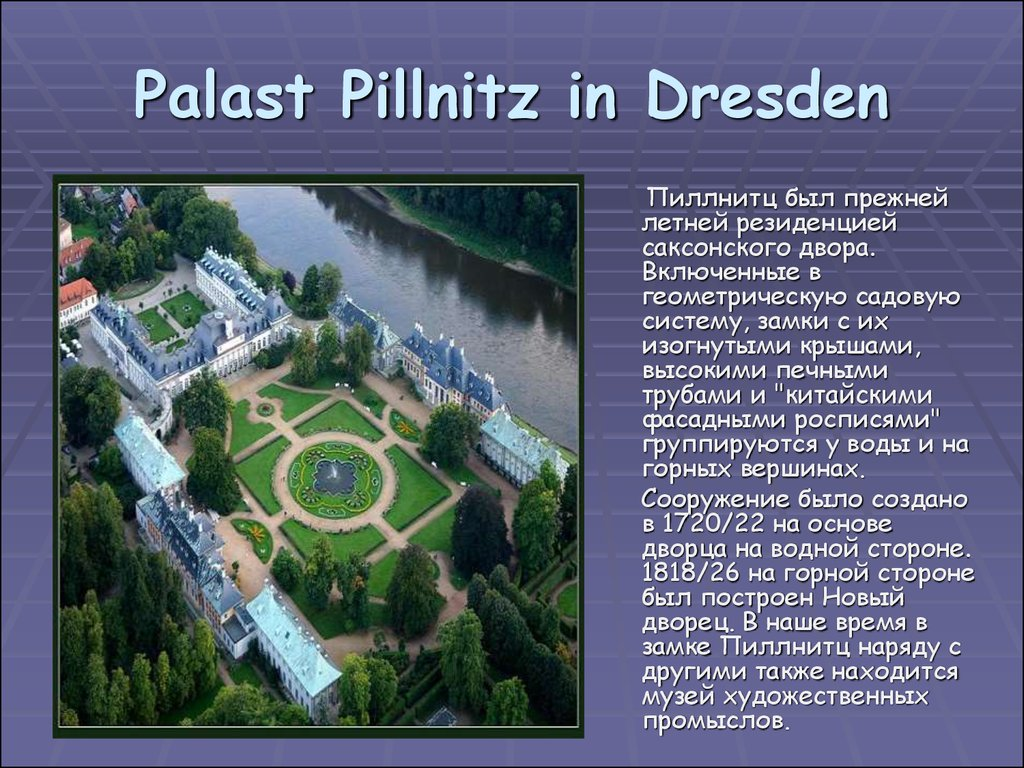 Palast Pillnitz in Dresden