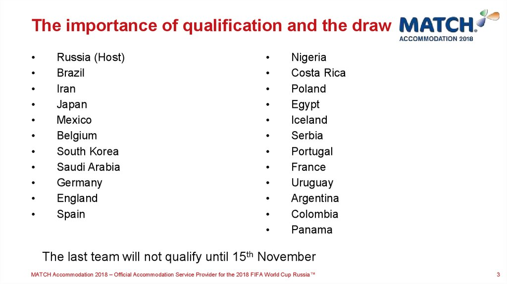 The importance of qualification and the draw