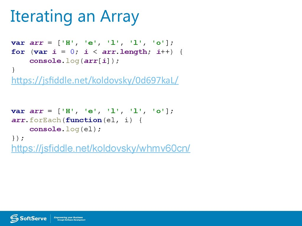 Iterating an Array