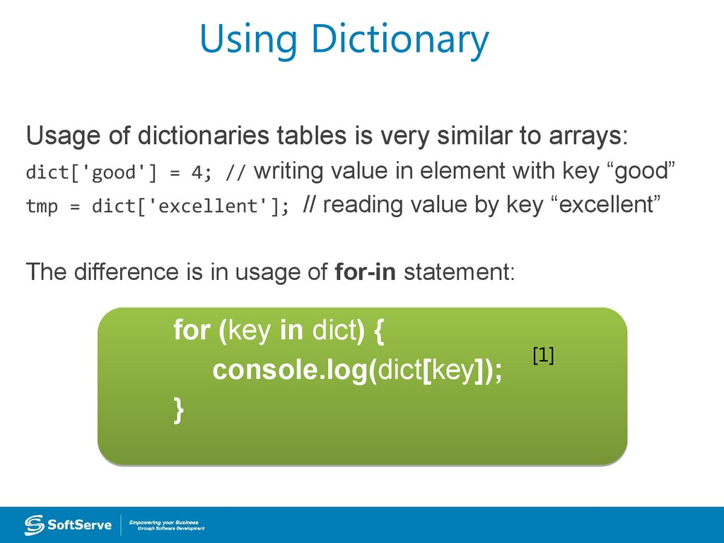 Using Dictionary