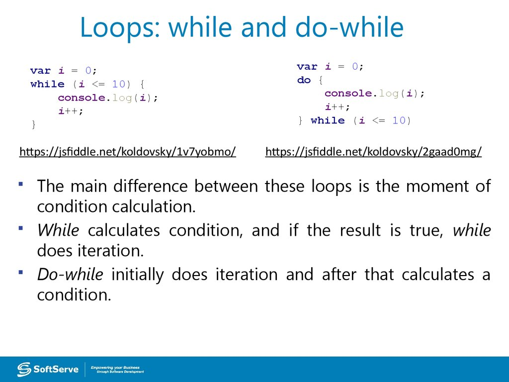 Loops: while and do-while
