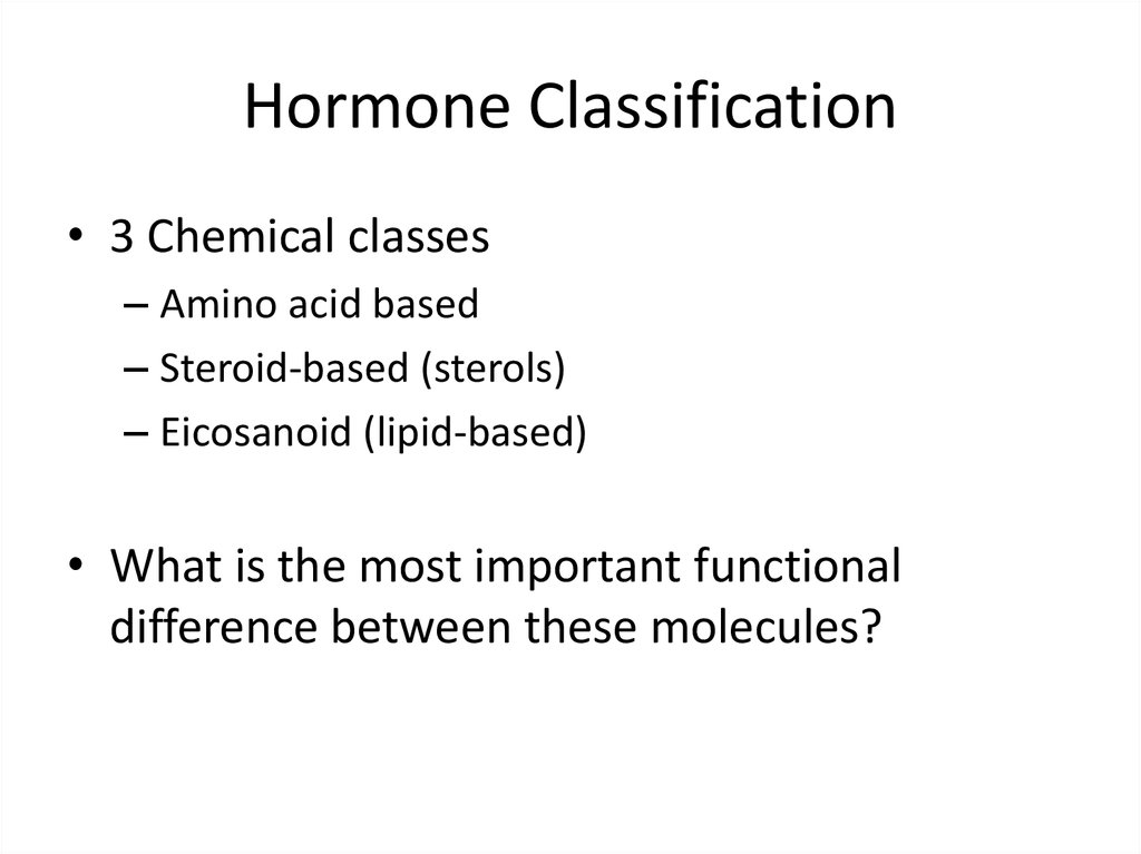 Hormone Classification