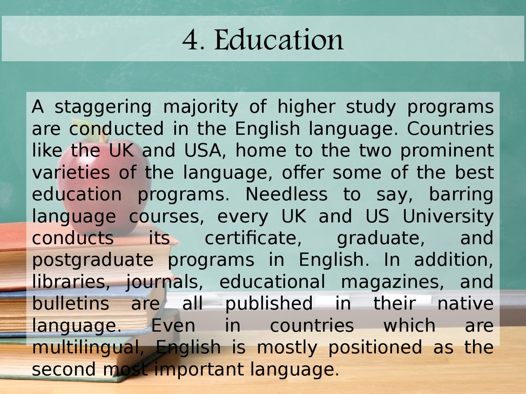 4. Education
