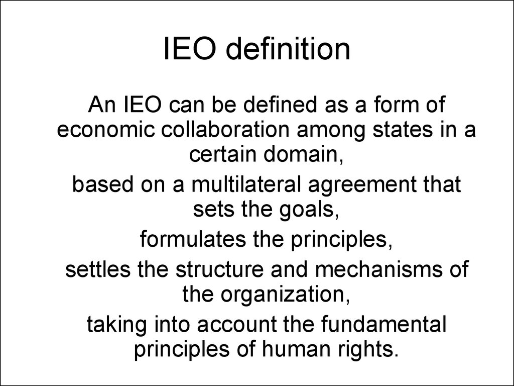 IEO definition