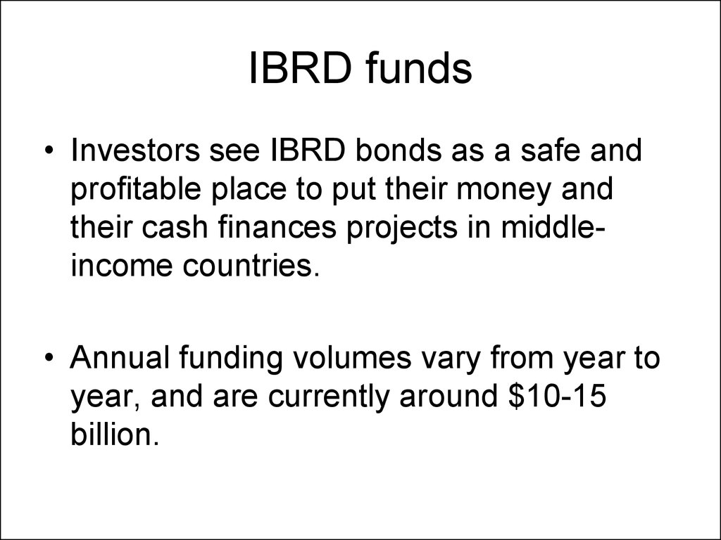 IBRD funds