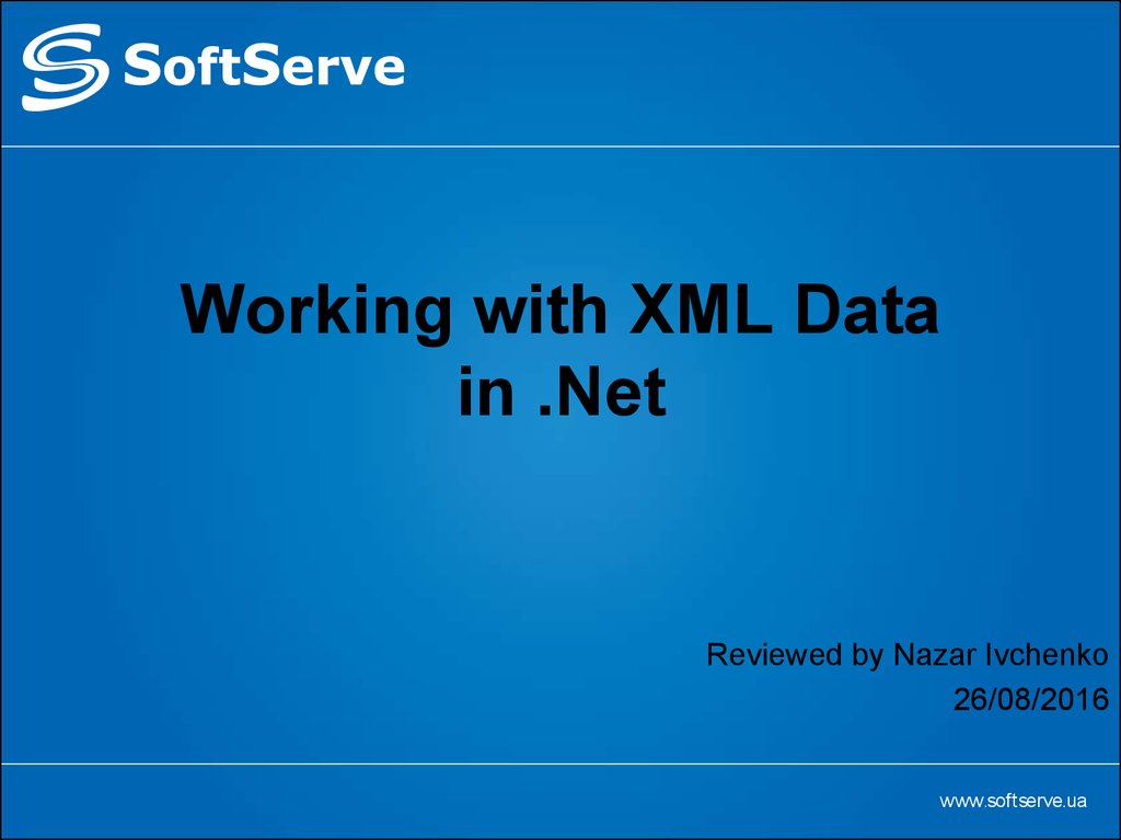 Working with XML Data in .Net