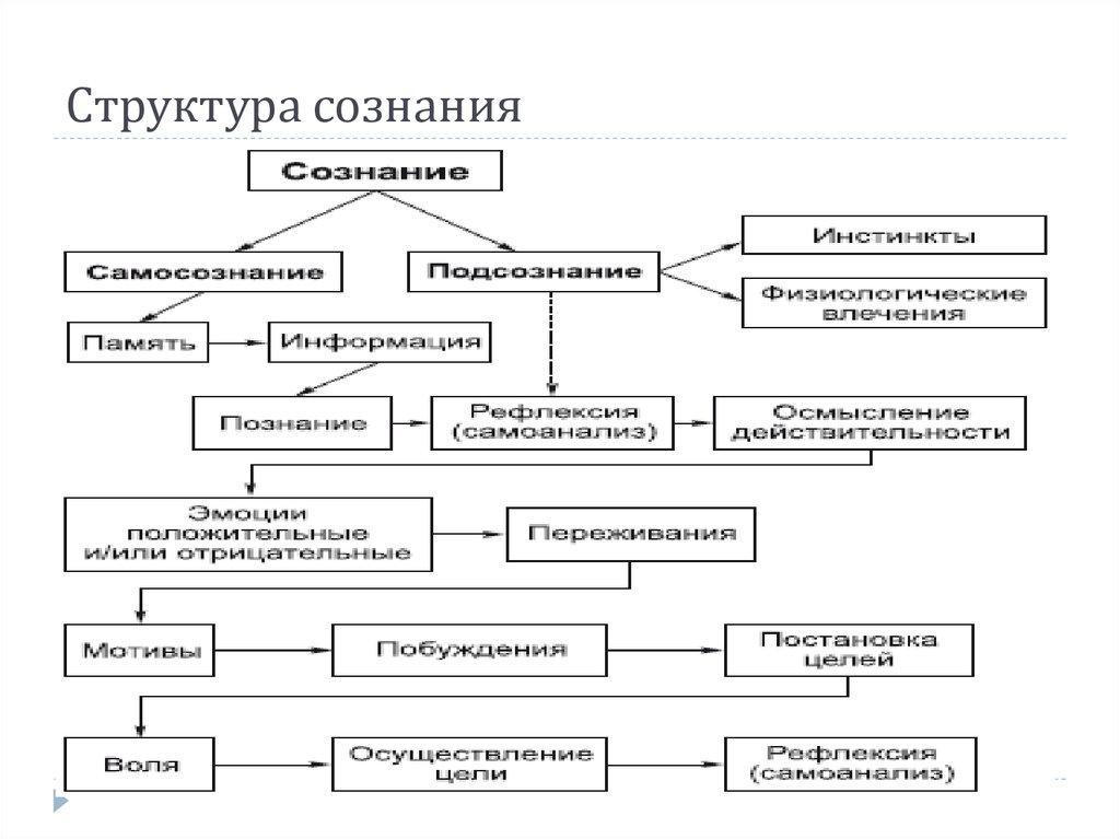 Структура сознания в картинках