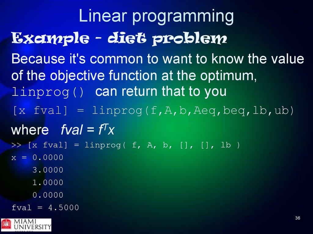 formulate a linear programming model