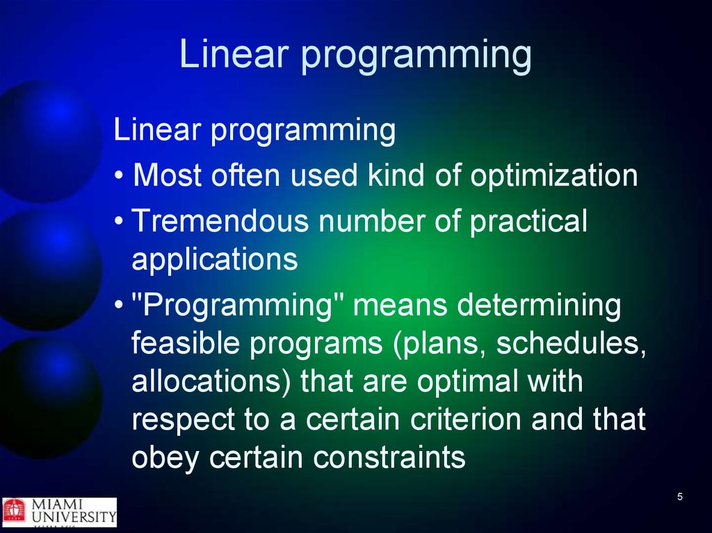 Matlab Linear Programming - презентация онлайн