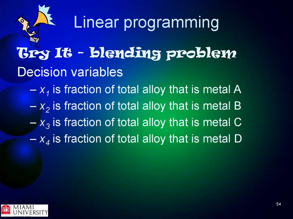 linear programming multiple choice Linear programming how are linear programming problems and word problems solved below are links to many examples on how to formulate and solve optimization problems in linear programming solve inequalities with two variables solve systems of inequalities with two variables.