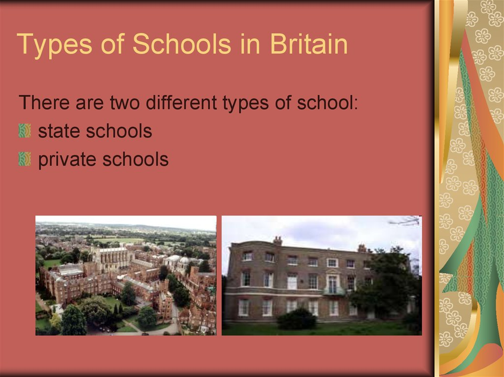 Types of Schools in Britain