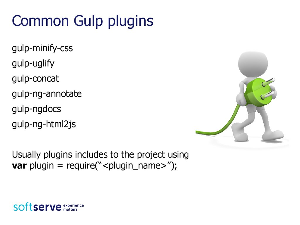 Common Gulp plugins