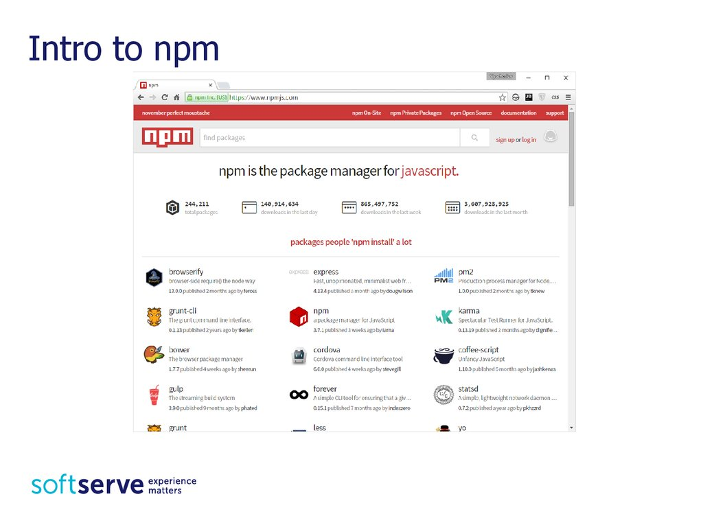 Intro to npm