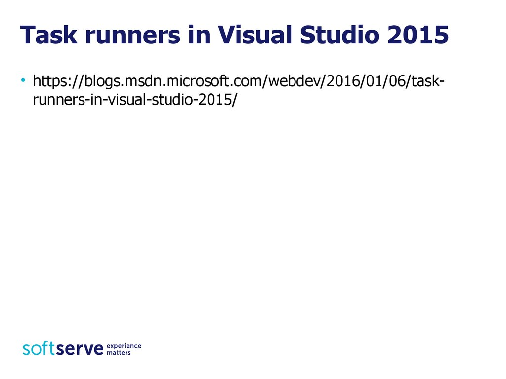 Task runners in Visual Studio 2015