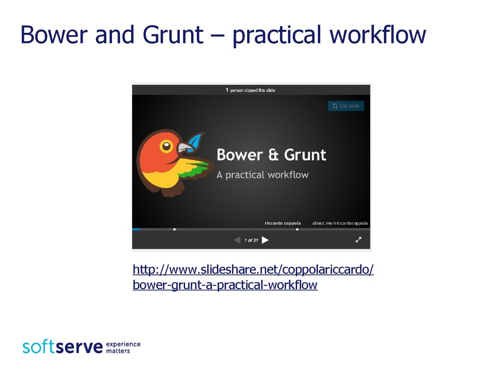 Bower and Grunt – practical workflow