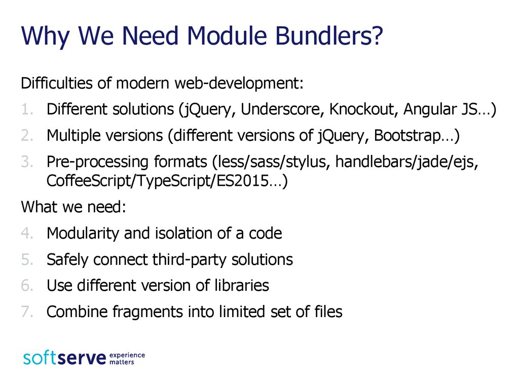 Why We Need Module Bundlers?