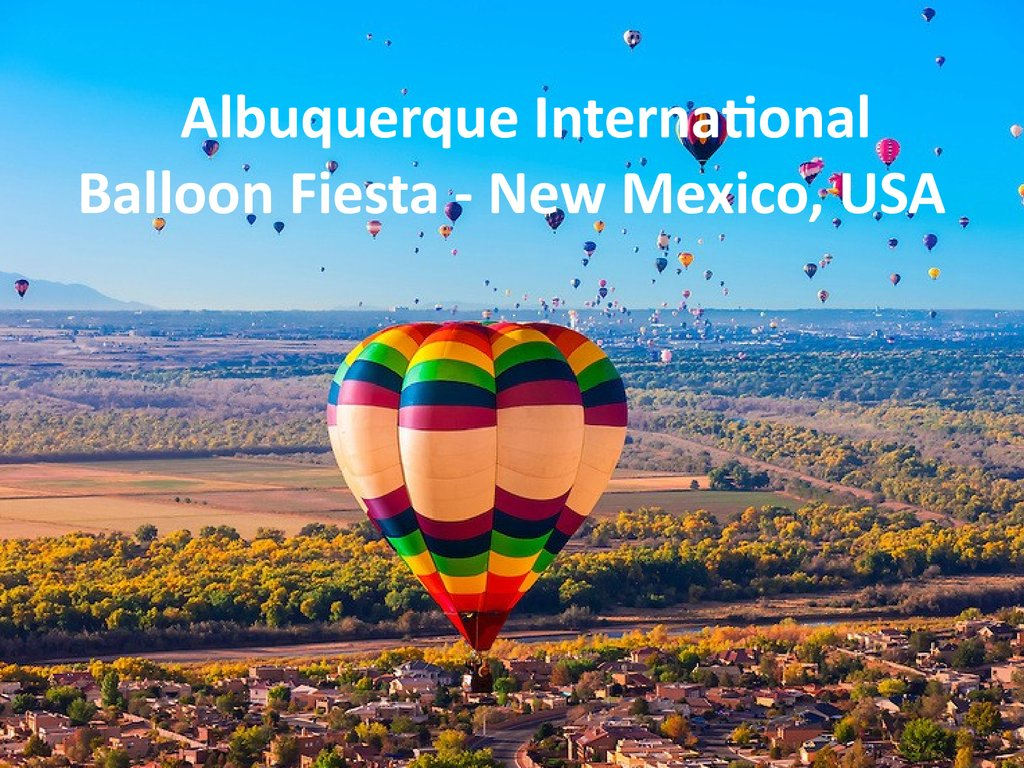 Albuquerque International Balloon Fiesta - New Mexico, USA
