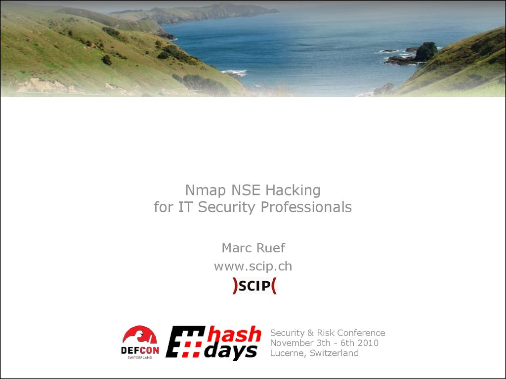 Nmap NSE Hacking for IT Security Professionals - презентация