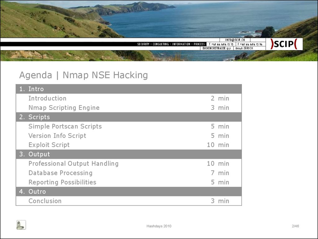 Nmap NSE Hacking for IT Security Professionals - online presentation