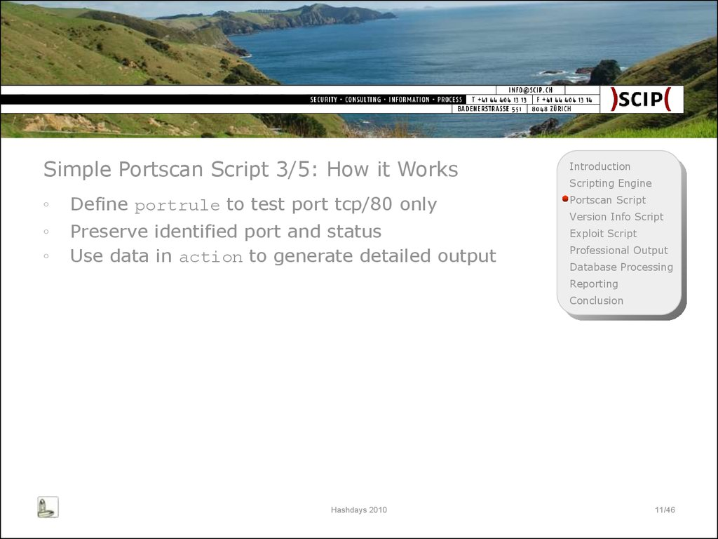 Simple Portscan Script 3/5: How it Works