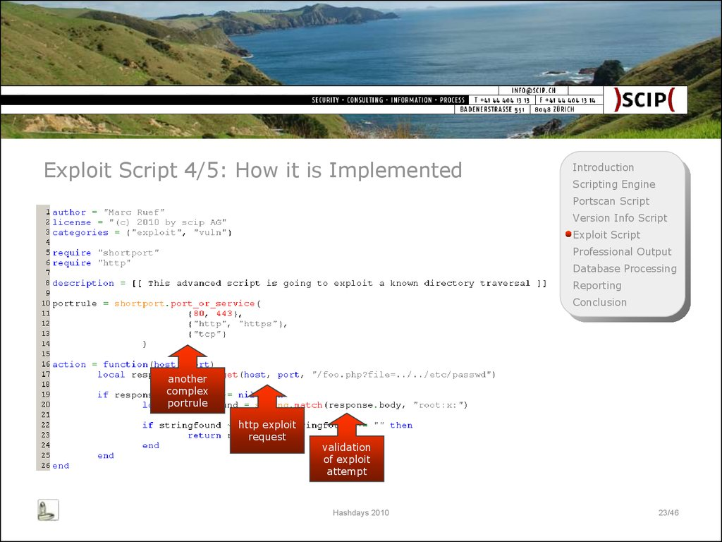 Exploit Script 4/5: How it is Implemented