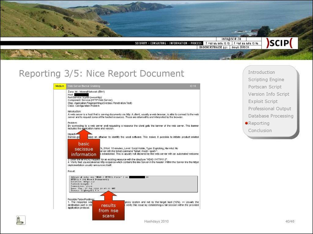 Reporting 3/5: Nice Report Document