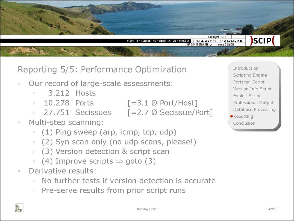 Reporting 5/5: Performance Optimization