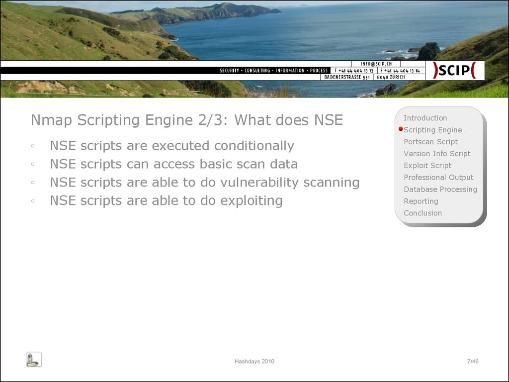 Nmap Scripting Engine 2/3: What does NSE