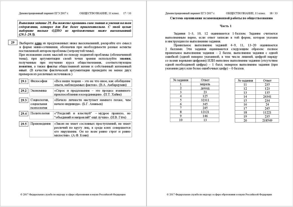 Демонстрационный вариант егэ 2017 г русский язык 11 класс