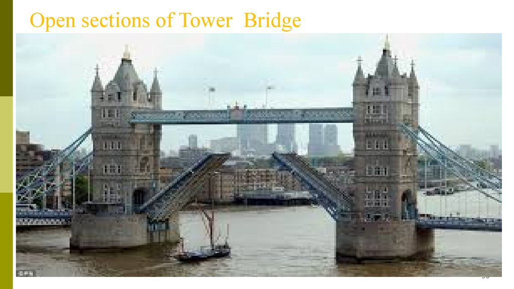 Open sections of Tower Bridge