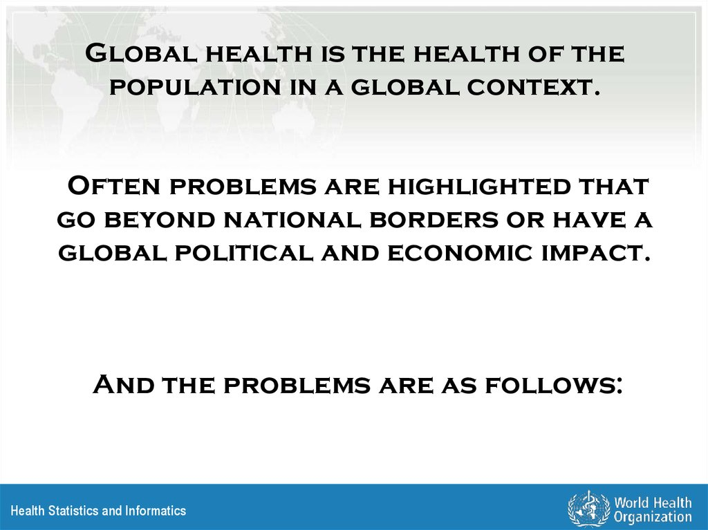 Global Health Risks  Health Statistics and Informatics - online